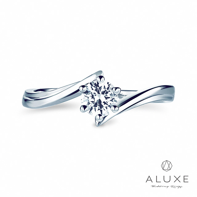 【ALUXE 亞立詩鑽石】0.30克拉 F/VS2完美車工求婚鑽戒