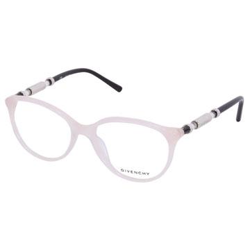 GIVENCHY 法國紀梵希經典時尚魅力晶透感圓柱鏡腳光學眼鏡(白鑽)GIVGV861-06UA