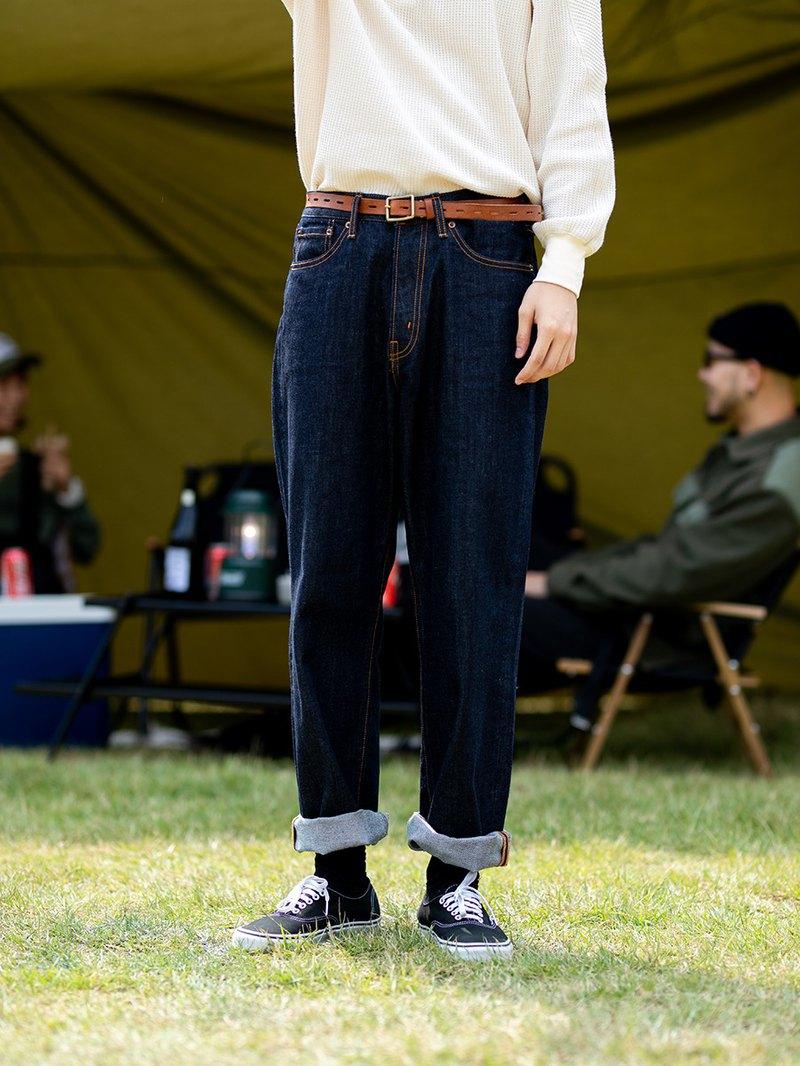 DAIKON 19/AW WIDE DENIM PANTS日系基礎休閒重磅寬版闊腿牛仔褲