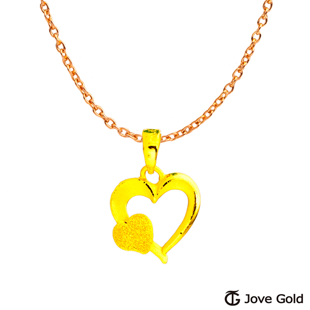 Jove gold 漾金飾 幸福心情黃金墜子