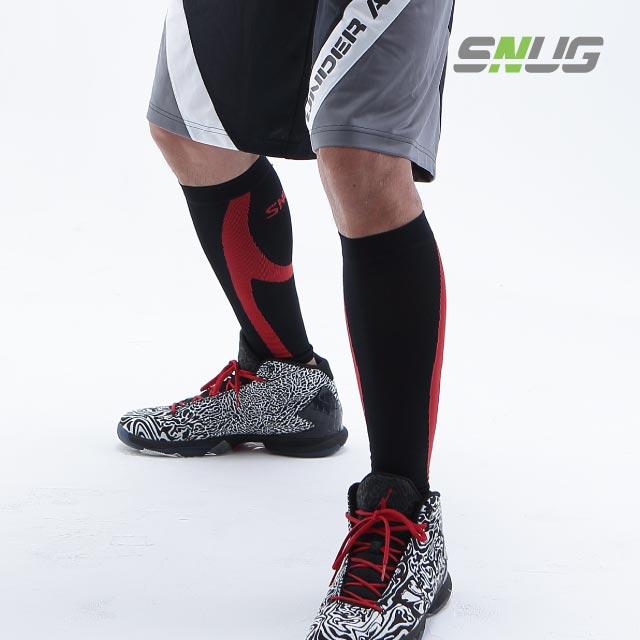 運動壓縮小腿套-深紅色