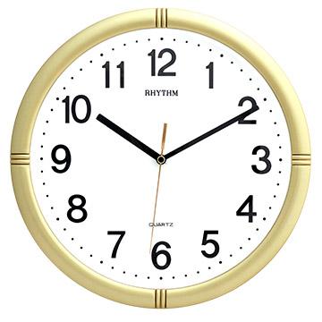 日本麗聲鐘-簡約時尚/高CP值/立體數字/客廳臥室超靜音滑動指針金屬色掛鐘