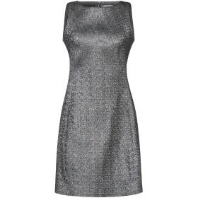 《セール開催中》VERSACE COLLECTION レディース ミニワンピース&ドレス シルバー 40 ポリエステル 68% / 金属化ポリエステル 32%