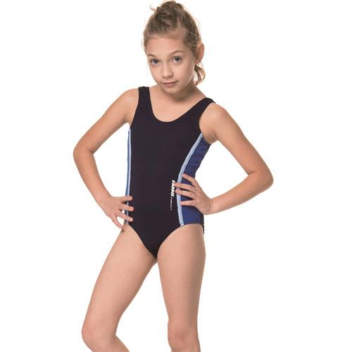 【SARBIS】泡湯 SPA女童連身三角泳裝附泳帽B2107