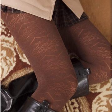 蒂巴蕾inspire 超細纖維彈性褲襪Warm up--心心相印