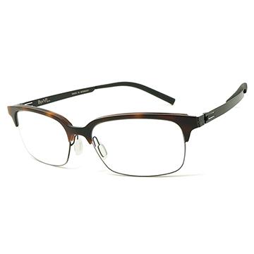 【ByWP】德國薄鋼光學眼鏡鏡框 BYA16700DAT-MB 無螺絲滑軸設計 55mm