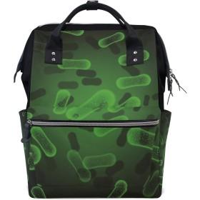 おむつバッググリーンロッド抽象おむつ バッグ バックパック ママバッグ カジュアル 軽量 大容量 トラベル マミー用