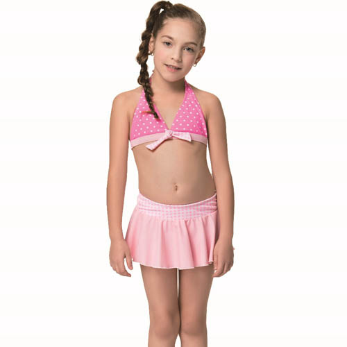 【SAIN SOU】SPA 泡湯女童比基尼兩截式泳裝附泳帽A82829