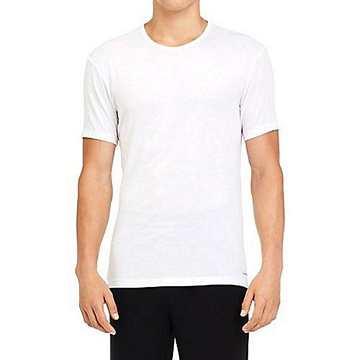 Calvin Klein 卡文克萊 2018男時尚絲般莫代爾白色圓領短袖內衣