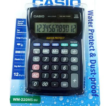 【CASIO】12位數防水防塵計算機-(WM-220MS-BU)