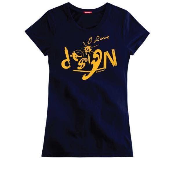 愛設計文創T恤 (女性適用版) 藏青