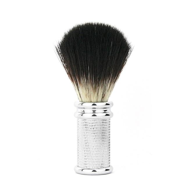 訂製款E合成纖維刮鬍刷 金屬銀色把柄