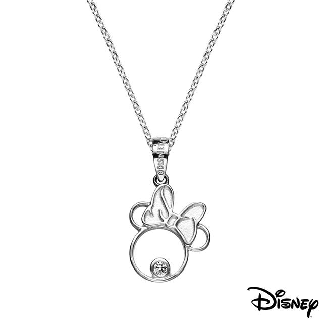 Disney迪士尼系列銀飾 純銀墜子-甜美美妮款 送項鍊