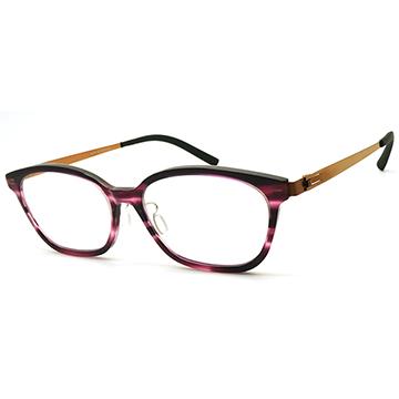 【ByWP】德國薄鋼光學眼鏡鏡框 BYA17808FIL-BR 無螺絲滑軸設計 53mm