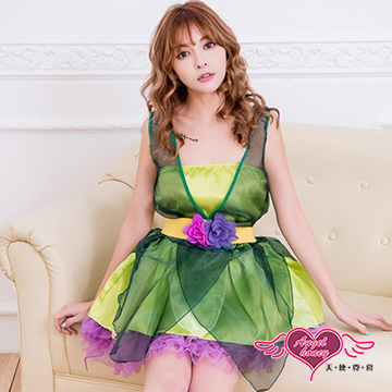 天使霓裳 森林公主 小禮服角色扮演表演服 (綠)