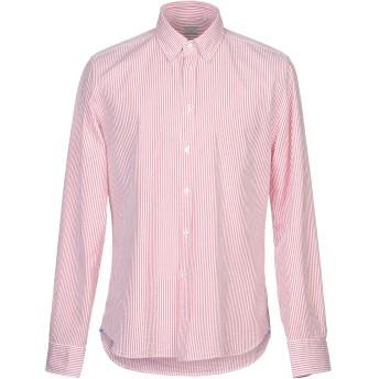 《セール開催中》XACUS メンズ シャツ レッド 43 コットン 100%