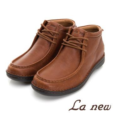 【La new】半高筒 輕量休閒鞋 短靴(男223019721)