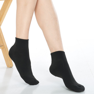 【KEROPPA】可諾帕1/2運動短襪*6雙(男女適用)C962-黑色