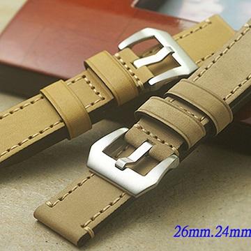 Panerai 沛納海.軍錶.運動錶- 復古仿舊款錶帶 ( 26mm.24mm.22mm )