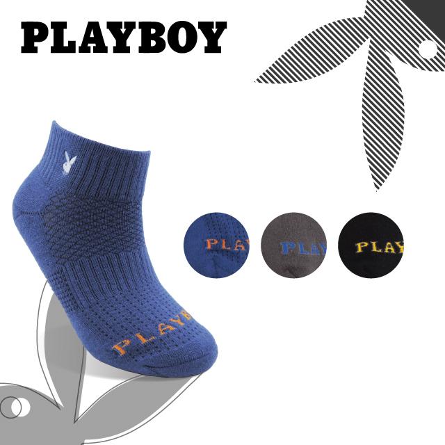 PLAYBOY 男刺繡機能運動襪