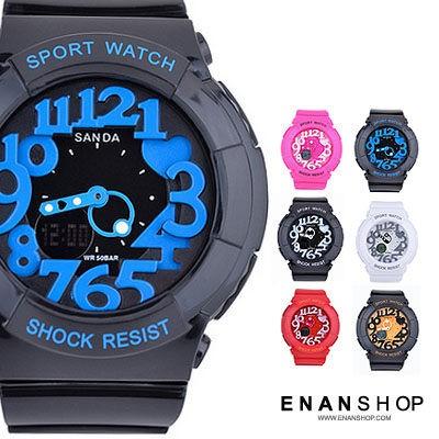 繽紛電子錶 少女時代同款 雙顯運動錶 韓版 手錶 男錶 女錶 情侶錶對錶 惡南宅急店【0485F】
