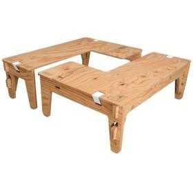アウトドアテーブル ヨカ L-TABLE 塗装済み クリア塗装