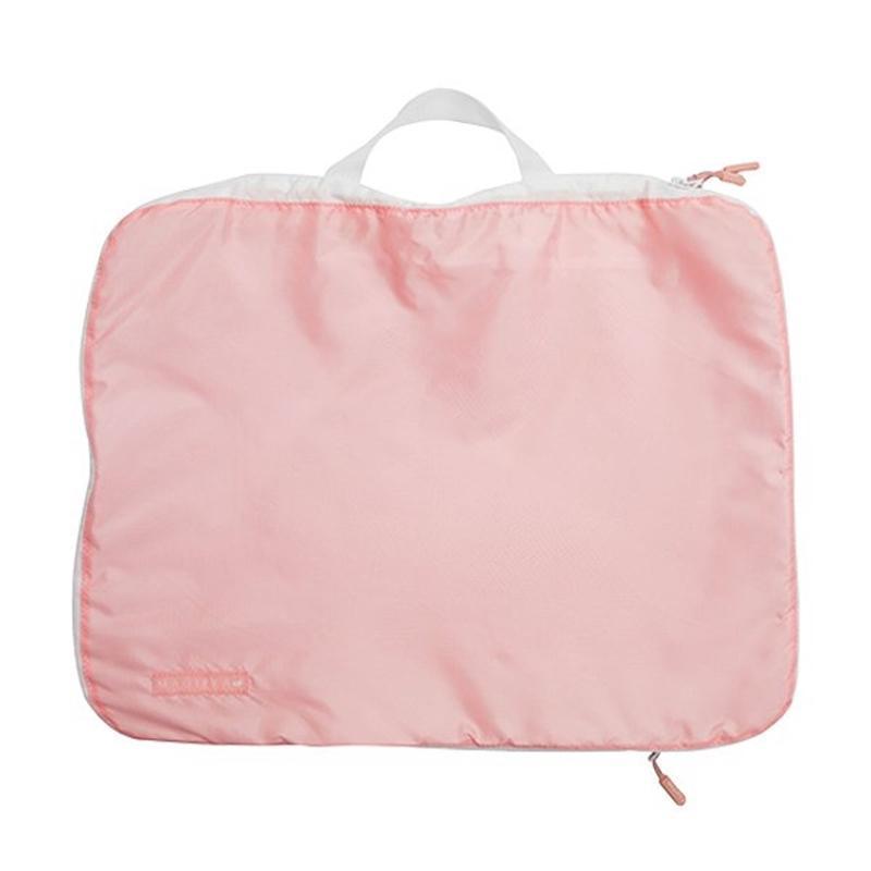 【新年5折起】神奇衣物縮小收納袋-衣物壓縮旅行包-糖果粉XL