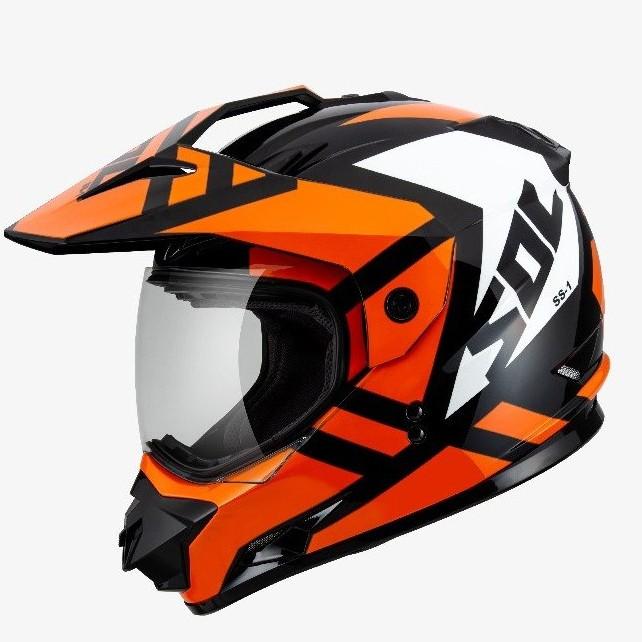 SOL 全罩 安全帽 SS1 SS-1 荒野 黑白橘 越野帽 可變換帽型 全可拆內襯 雙D扣《比帽王》