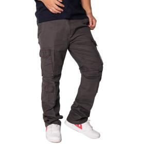 ワークパンツ メンズ 10ポケット ロングパンツ カーゴパンツ 多機能 カジュアル ミリタリー カーゴ おしゃれ かっこいい grey-33