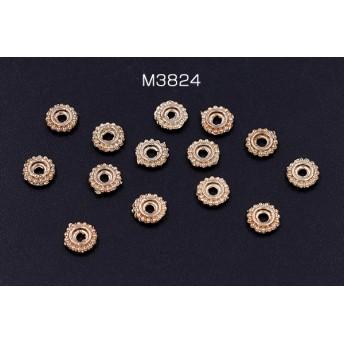 M3824 60個 メタリックパーツ メタルパーツ 6mm ゴールド 3X【20ヶ】