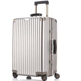 レトロトロリーケース、アルミフレーム搭乗トロリースーツケース、受託手荷物バッグ、-gold-S