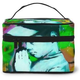 メイクポーチ 化粧ポーチ コスメバッグ バニティケース トラベルポーチ Banksy バンクシー 雑貨 小物入れ 出張用 超軽量 機能的 大容量 収納ボックス