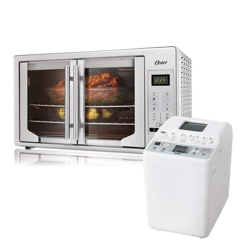 """雙烤網增加烹飪彈性,雙層料理更快速 42L超大容量: 一次可容納雙層16""""Pizza 隨時開起內燈能夠更清楚看到食材狀態 不銹鋼機身設計 一次開啟單門即可全部開起,單手操作,方便又簡單 90-230度"""