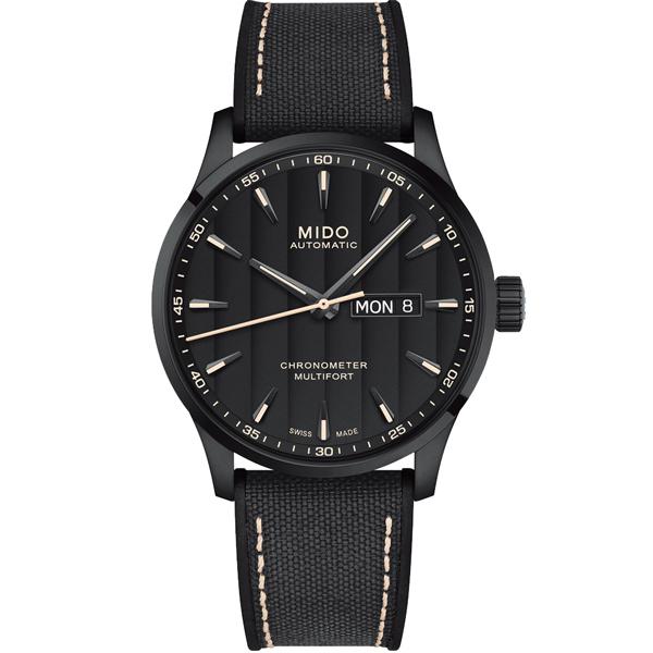 MIDO 美度 MULTIFORT先鋒80系列 天文台腕錶 黑42mm M0384313705100