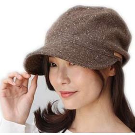 [ドリームハッツ] 帽子 レディース キャスケット 大きめ 冬 UV 紫外線 XLサイズ(63cm) ブラウン