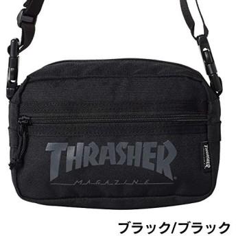 [THRASHER(スラッシャー)] ミニショルダーバッグ ウエストバッグ 2WAY TH-66 THRSG-400 ブラック/ブラック
