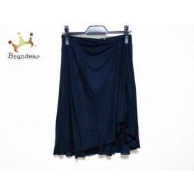 バレンチノ VALENTINO スカート サイズ4 XL レディース ダークネイビー シルク 新着 20191024