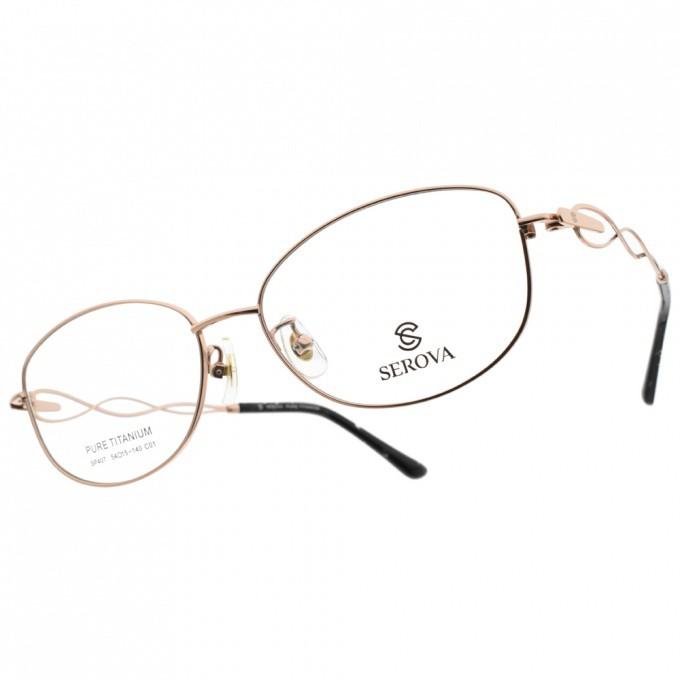 SEROVA 施洛華 眼鏡 氣質鏤空款 金 SP407 C01