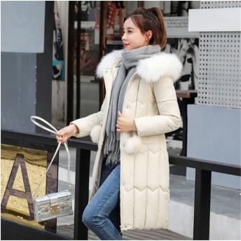 ♪雨雪の季節でも羽織れるコート♪ 羽織り 軽い 暖かい 保温 棉ジャケット レディース 秋冬 ファッション ふわふわ 毛皮の襟 フード付き ダウンジャケット