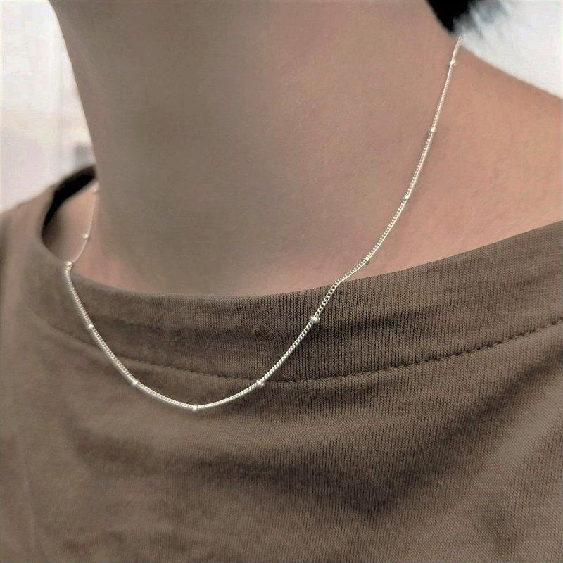 │簡約│質感間珠鍊 • 純銀單鍊 • 鎖骨鍊