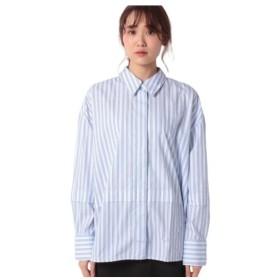 [マルイ]【セール】コットン裾切り替えストライプシャツ・ブラウス/ベネトン レディース(UNITED COLORS OF BENETTON)
