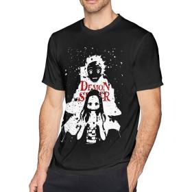 メンズ Oネック鬼滅の刃アウトドアスポーツTシャツS半袖シャツ