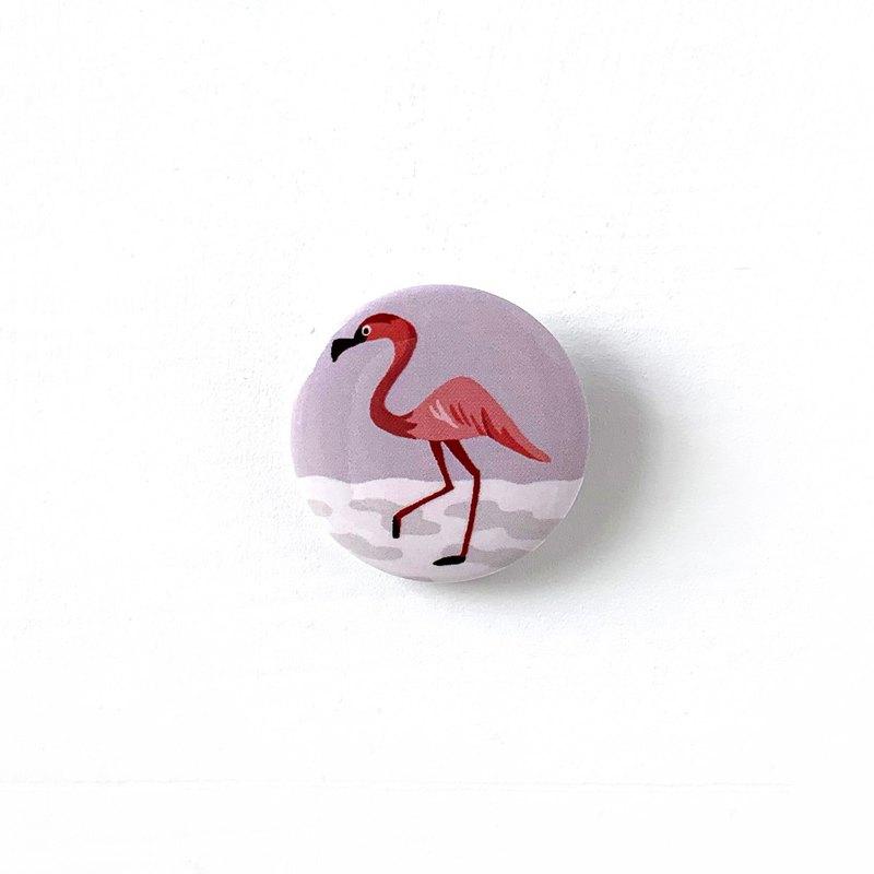 胸章-用望遠鏡來safari - 紅鶴