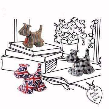 Monica Richards London 動物造型紙鎮 - 小狗 a.經典條紋