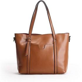 Dilrabaトートバッグ 軽量 本革の女性用 ファッション的な大容量のトートバッグは斜めにショルダーバッグにまたがります 防水 2WAY 大容量 バッグ エコバッグリクルートバッグ 多目的 レディースハンドバッグ