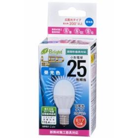 オーム電機 LED電球 小形 25形相当 E17 昼光色 LDA3D-G-E17-IH21