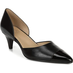 ナチュライザー Naturalizer シューズ パンプス Naturalizer Barb Leather Pump (Women) Black Leat レディース [並行輸入品]
