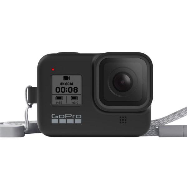 [免運] GoPro 矽膠護套 附繫繩 保護套 AJSST-001 子夜黑 HERO8 相機專家 [公司貨]