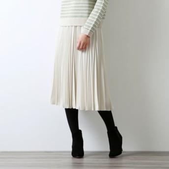 【アマカ(AMACA)】 *STORY掲載*パウダーストレッチクレープスカート オフホワイト