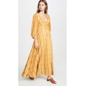スタッド STAUD レディース ワンピース ワンピース・ドレス amaretti dress Mustard Plaid